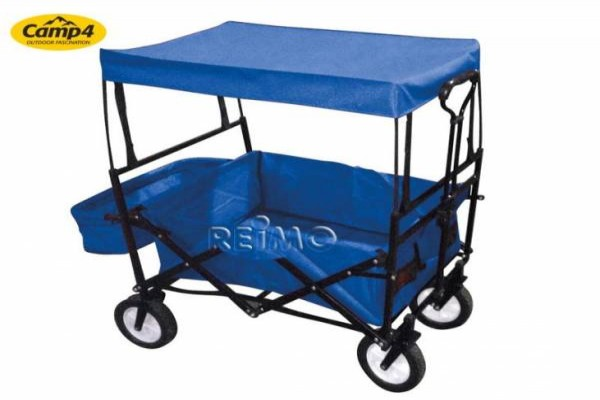Carro buggy con parasol, color azul