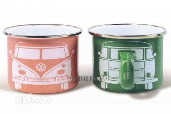 VW collection tassa metalica petita 2 un. verd i rosa