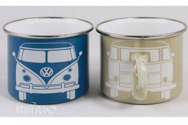 VW Collection tassa metalica petita 2 un. crema blau