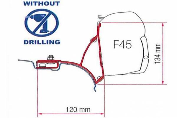 Adaptador FIAMMA F45 T5/T6 Transporter/Multivan sin guía Volkswagen