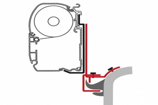 Adaptador FIAMMA F45 T4/T5/T6 multirail REIMO