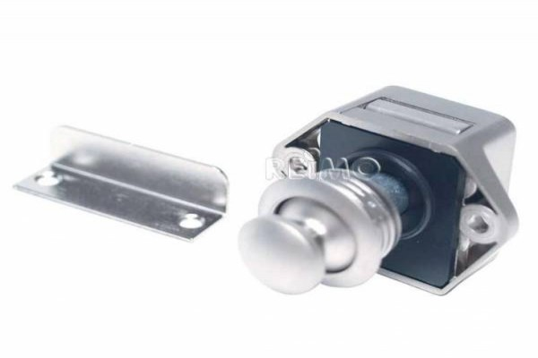 Cierre Push Lock Mini plata mate