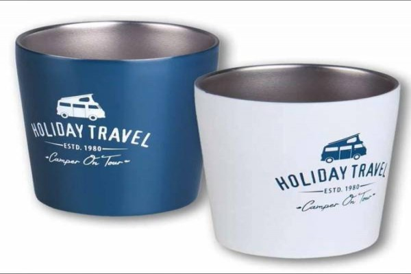 Tasses HOLIDAY TRAVEL acer inoxidable joc de 2 unitats