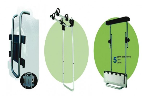 Base TEIDE portaesquís/portabicis para rueda 4x4