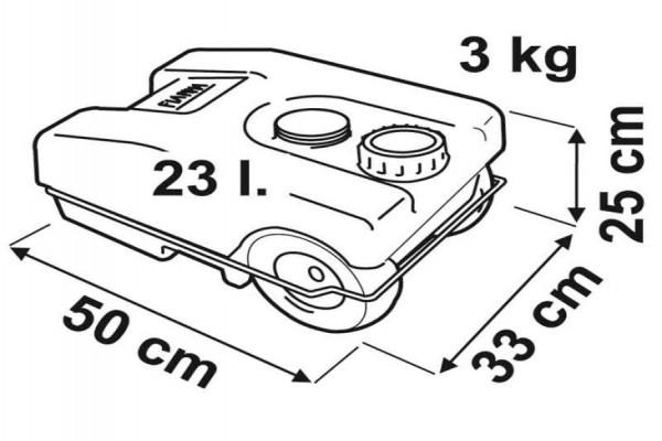 Depósito Fiamma Roll Tank 23l gris