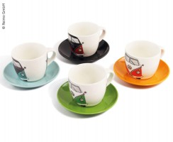 Joc de 4 tasses Expresso VW Collection